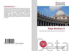 Pope Boniface V kitap kapağı