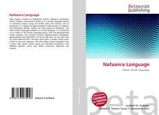 Bookcover of Nafaanra Language