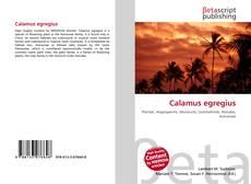 Bookcover of Calamus egregius