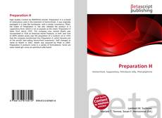 Bookcover of Preparation H