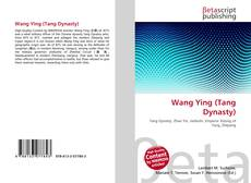 Bookcover of Wang Ying (Tang Dynasty)