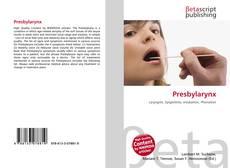 Bookcover of Presbylarynx