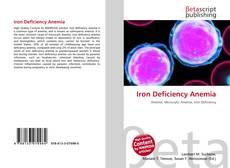 Portada del libro de Iron Deficiency Anemia