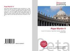 Pope Martin V kitap kapağı