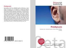 Bookcover of Presbycusis