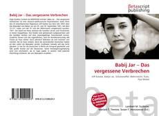 Bookcover of Babij Jar – Das vergessene Verbrechen
