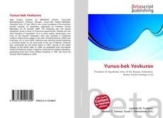 Yunus-bek Yevkurov kitap kapağı
