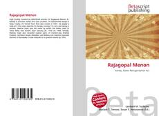 Bookcover of Rajagopal Menon