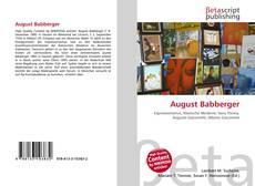 August Babberger kitap kapağı