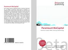 Bookcover of Paramount BioCapital