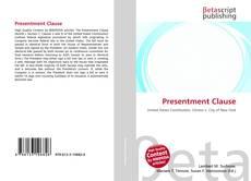 Presentment Clause kitap kapağı