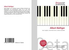 Albert Bolliger kitap kapağı