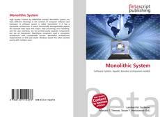Couverture de Monolithic System
