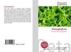 Обложка Drosophyllum