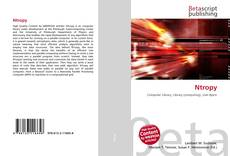 Bookcover of Ntropy