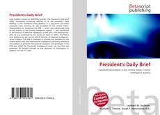 Buchcover von President's Daily Brief