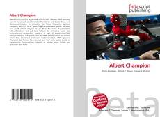 Couverture de Albert Champion