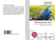 Buchcover von Babenhausener Bach