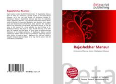 Bookcover of Rajashekhar Mansur