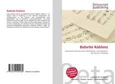 Buchcover von Babette Koblenz