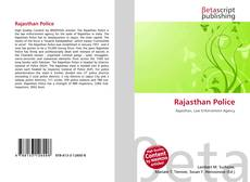 Bookcover of Rajasthan Police