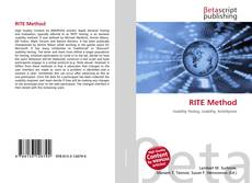 Bookcover of RITE Method
