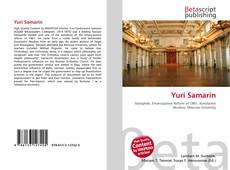 Yuri Samarin kitap kapağı