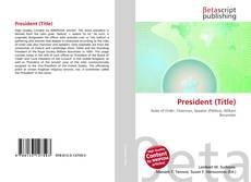 Copertina di President (Title)