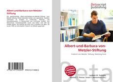 Capa do livro de Albert-und-Barbara-von-Metzler-Stiftung
