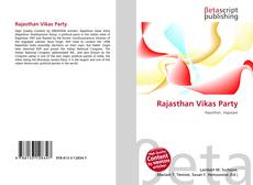 Bookcover of Rajasthan Vikas Party