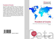 Bookcover of President of Croatia