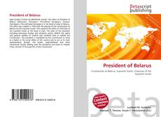 Couverture de President of Belarus