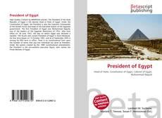 Bookcover of President of Egypt