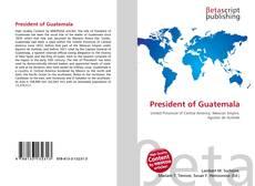 Portada del libro de President of Guatemala