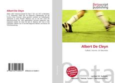 Bookcover of Albert De Cleyn