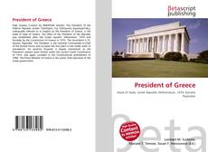 Bookcover of President of Greece