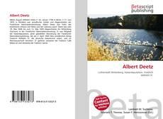 Buchcover von Albert Deetz
