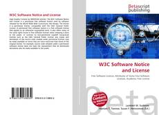 Bookcover of W3C Software Notice and License