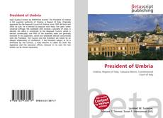 Bookcover of President of Umbria