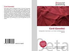 Cord (Gewebe) kitap kapağı