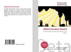 Capa do livro de Albert Einstein Award