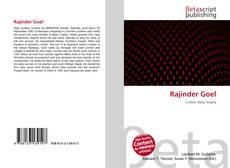 Bookcover of Rajinder Goel