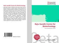 Обложка Rajiv Gandhi Centre for Biotechnology