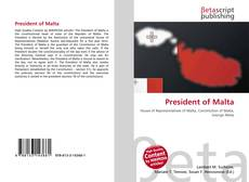 Bookcover of President of Malta