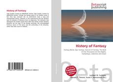 Bookcover of History of Fantasy