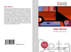 Bookcover of Rajiv Menon