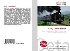 Capa do livro de Yury Lomonosov