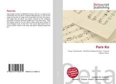 Bookcover of Pare Ko