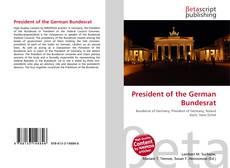 Capa do livro de President of the German Bundesrat