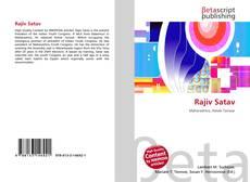 Capa do livro de Rajiv Satav